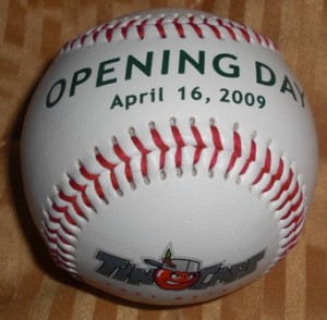 Baseball given to every fan in attendance