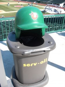 Pretty Cool Stadium Garbage Cans
