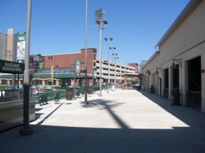 Right Field Line Concourse; That is batting cage on right visible to fans