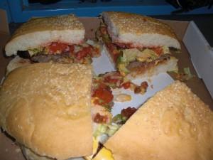 ...one tough burger eating challenge.