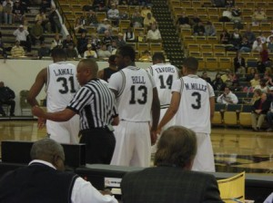 Both teams wore Russell Uniforms...not a big fan...Come on GT, go big time like Nike or Adidas