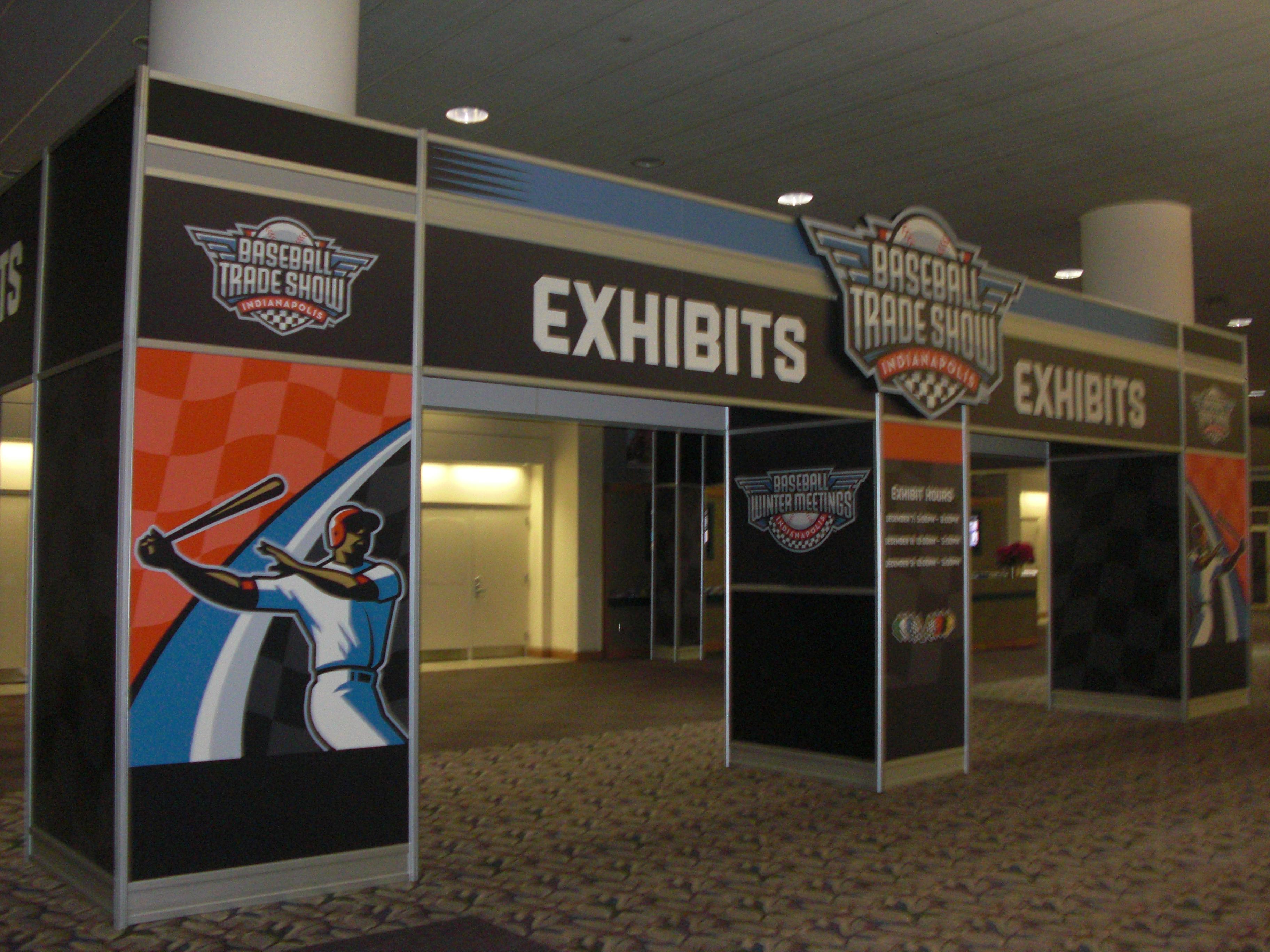 Entrance Trade Show Plexi : Baseball winter meetings trade show corey brinn dot com