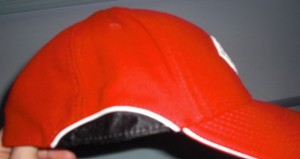 Side of the old style of hat, which a lot of people did not care for