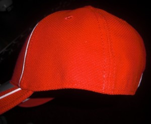 Sides of the 2010 hats are plain