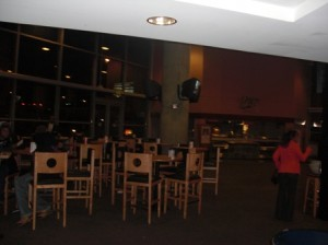 Private Club/Lounge at Phillips Arena. I always seem to find a way to sneak into these.