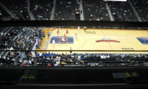 View from my seat...1st Row in second deck...liked it a lot..Thanks Stubhub!