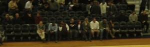 Didn't see any celebs sitting courtside like you would find in LA