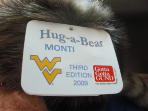 Official Tag on the Hug-A-Bear